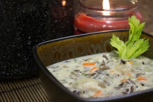 A wonderfully tasty Chicken Wild Rice Soup.