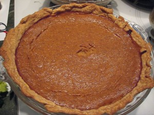 Pumpkin Pie made from Scratch