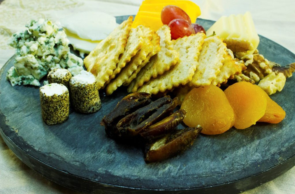 A beautiful cheese tray.