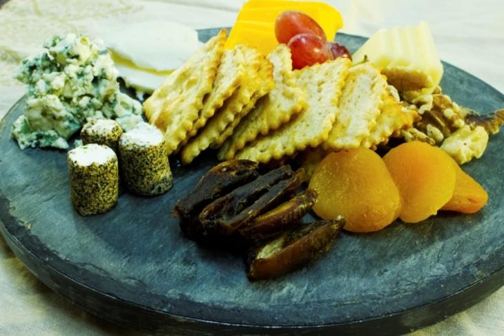 A beautiful cheese tray.