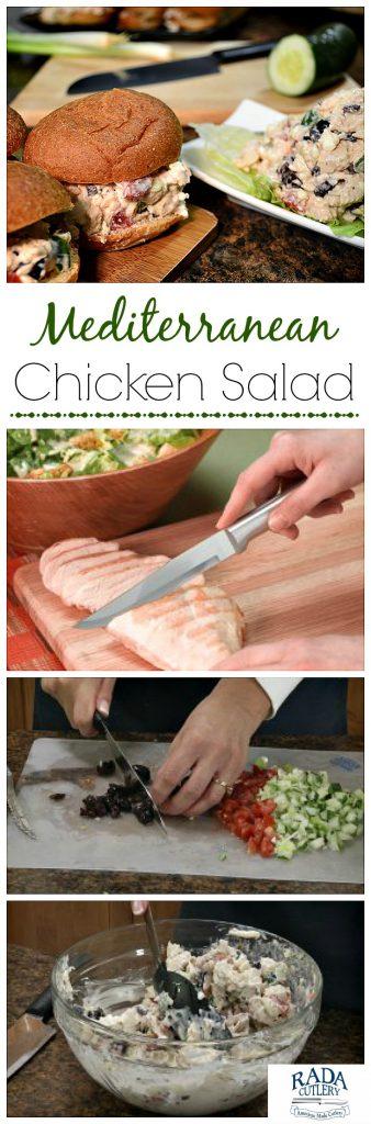 Mediterranean Chicken Salad Collage