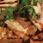A gorgeous turkey panini made with Rada Cutlery products.