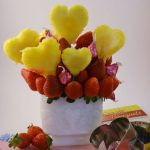 A beautiful fruit bouquet made with Rada Cutlery products.