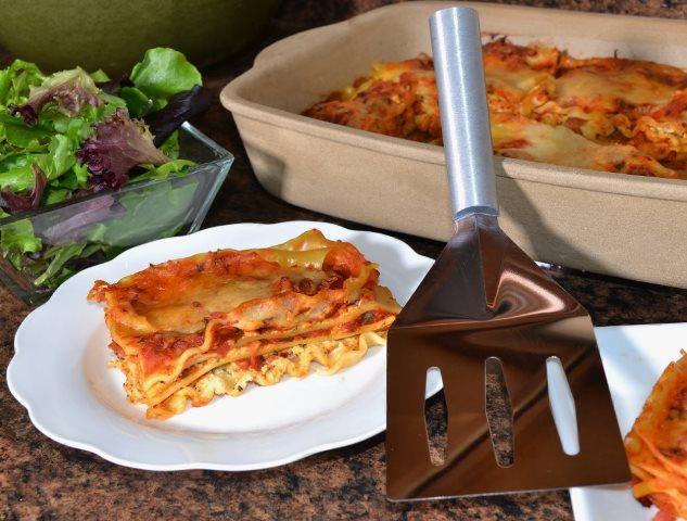 Low Calorie Cheesy Prosciutto Lasagna | Low Fat Lasagna
