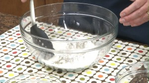 start mixing ingredients together