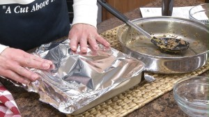 cover with tinfoil, then the casserole can be put in the oven or frozen for up to 6 months