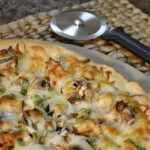 A lovely Chicken Alfredo Pizza with a Rada Cutlery Pizza Cutter.
