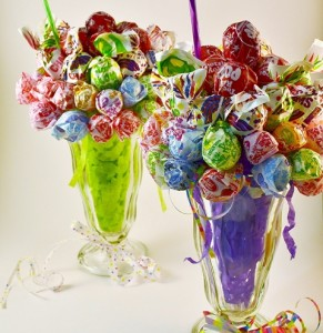 Two Lollipop Malt Candy Bouquets