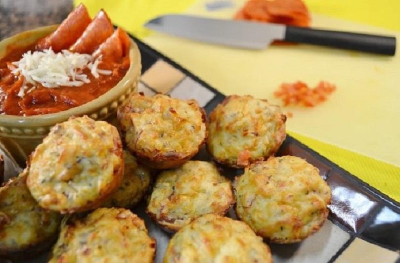 Bite-Sized Pizza Snack | Pizza Puff Recipe