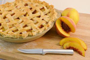 Homemade Peach Pie with Rada Paring Knife