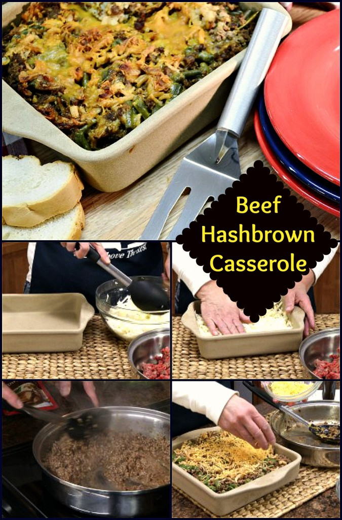 Beef Hashbrown Casserole Collage