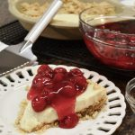 A beautiful no bake cheesecake and the Rada Serrated Pie Server.