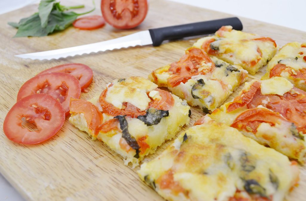 Basil and Tomato Squares Recipe | Quick Homemade Pizza Appetizer