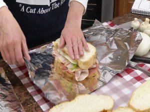 Wrapping sourdough sandwich