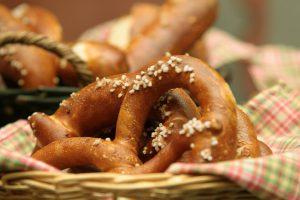 A delicious baked pretzel.