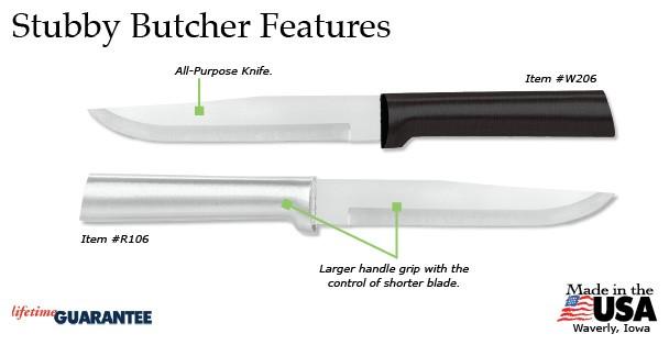 Rada Stubby Butcher Knife Features