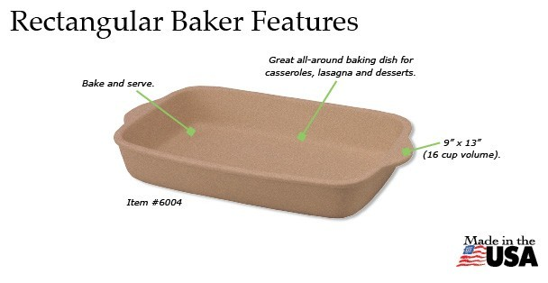 Rada Rectangular Baker Features