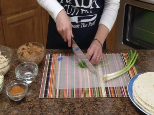 Chopping cilantro with Rada French Chef Knife