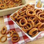 A bowl of spicy pretzels. Be careful, they're hot!