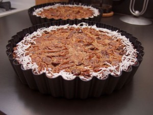 Two delicious pecan pies.