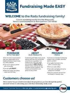 Rada's fundraising EASY guide.