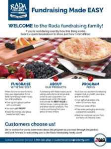 Rada's fundraising EASY guide.