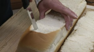 Slicing with Rada Bread Knife