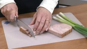 Rada Cook's Knife cutting ham