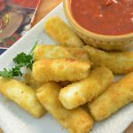 Cheese Sticks with Rada Quick Mix Marinara Sauce.