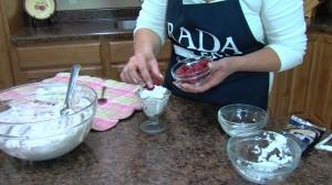 Adding raspberries