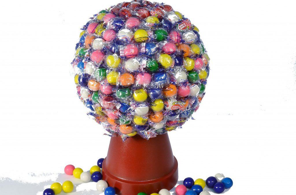 How to Make a Gumball Machine Candy Bouquet | Candy Machine Bubblegum Bouquet