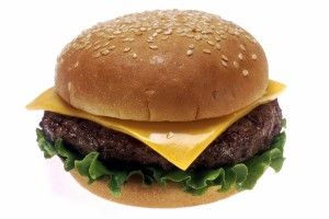 A delicious hamburger.
