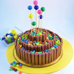 An outrageous Kit Kat Bar Cake made with unbeatable Rada Cutlery products.