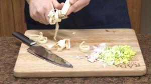 Peeling parsnip