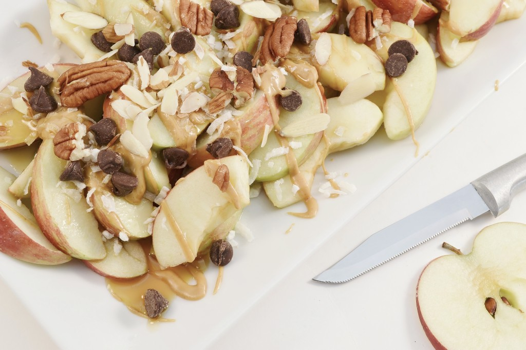 Apple Nachos with a Rada Serrated Paring knife.
