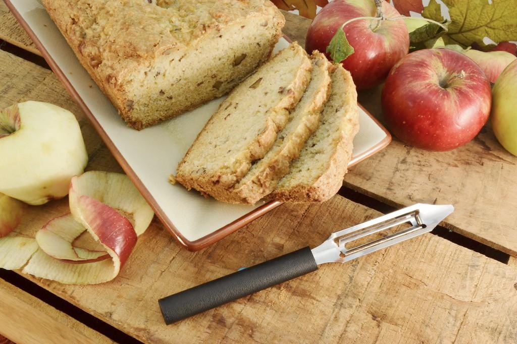 Apple Nut Bread Recipe with Rada Vegetable Peeler.