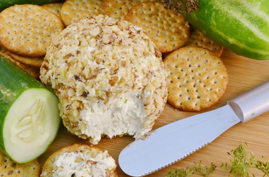 Cucumber Onion Dill Cheeseball | Cheeseball Appetizer Recipe