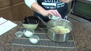Adding salt to taste