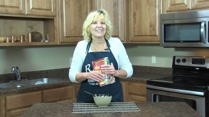 Kristy with completed Italian Noodle Bowl