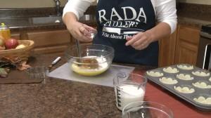 Adding salt and pumpkin spice.