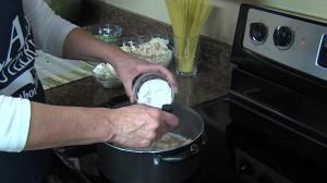 Adding 1/3 cup flour