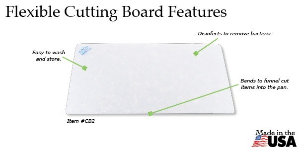 Rada Flexible Cutting Board Features