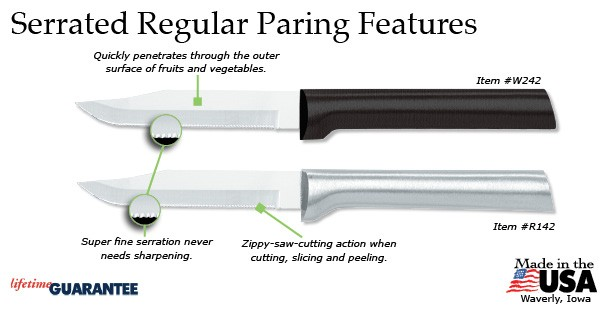 Rada Serrated Paring Features
