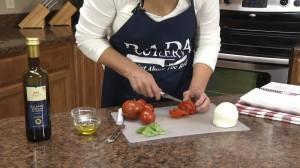 Slicing tomatoes with Rada Tomato Slicer
