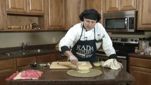Preparing Brie pastry