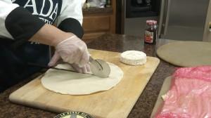 Cutting pie crust with Rada Pizza Cutter