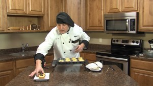 Chef Ted with compelted Caramelized Onion Tortes