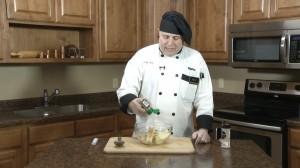 Adding season salt to butter