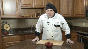 Chef Ted with completed Cranberry Relish