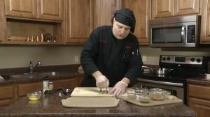 Preparing puff pastry with Rada Plain Food Chopper.